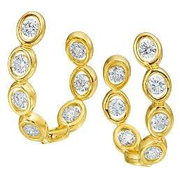 Oasis Gumuchian 18K Yellow Gold Diamond Curve Earrings