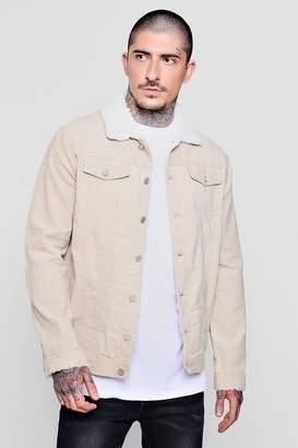 boohoo Borg Collar Corduroy Western Jacket