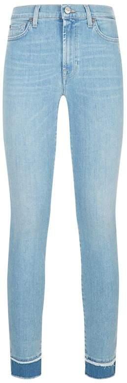 Skinny Crop Frayed Slim Illusion Jeans