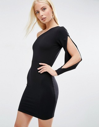 ASOS Split One Shoulder Mini Dress $34 thestylecure.com