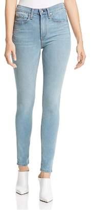 Rag & Bone High-Rise Skinny Jeans in Heather