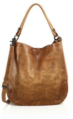 Frye Melissa Leather Hobo Bag $388 thestylecure.com