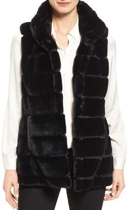 Jones New York Reversible Faux Fur Vest $150 thestylecure.com