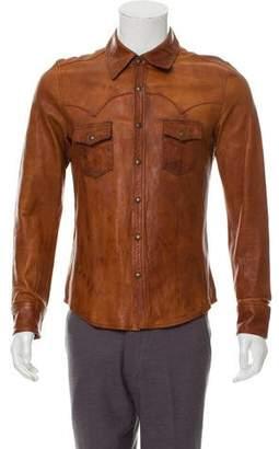 Dolce & Gabbana Western Leather Shirt