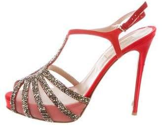 Valentino Embellished Suede Sandals