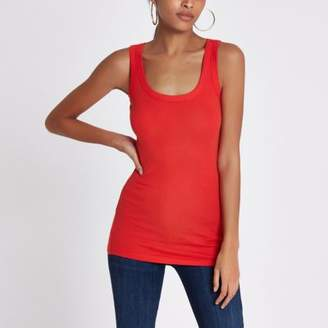 River Island Red scoop neck thick strap tank