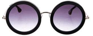 Alice + Olivia Gradient Circular Sunglasses