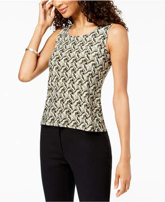 JM Collection Petite Jacquard Tank Top, Created for Macy's
