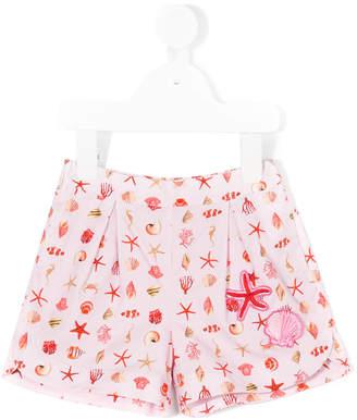 Versace Sea print shorts