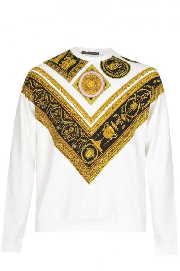 VersaceBaroquePrintSweatshirt