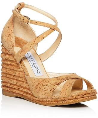 09b8b6241a4 Free Shipping  150+ at Bloomingdale s · Jimmy Choo Women s Alanah 105 Cork  Platform Wedge Sandals