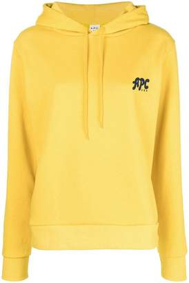 A.P.C. logo printed hoodie