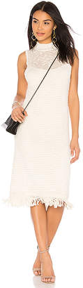 Callahan Stripe Sleeveless Turtleneck Dress