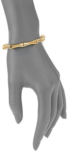 Gucci Bamboo 18K Yellow Gold Small Bangle Bracelet
