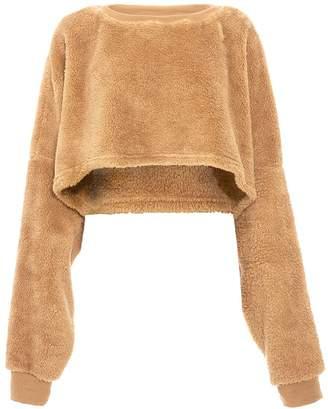 Quiz TOWIE Beige Fleece Teddy Bear Jumper
