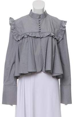 J.W.Anderson Ruffle-Trimmed Long Sleeve Top
