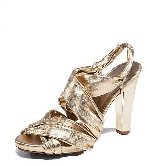 Rita Shoes in Gold Metallic