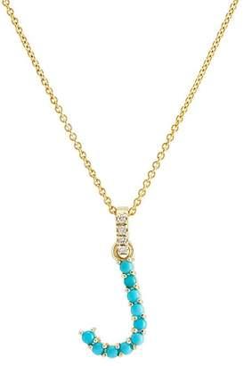 """Jennifer Meyer Women's """"J"""" Pendant Necklace"""