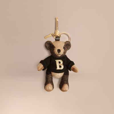 Burberry Burberry Thomas Bear Charm in Check Cashmere