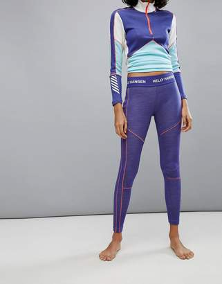 Helly Hansen Lifa Merino Leggings in Purple
