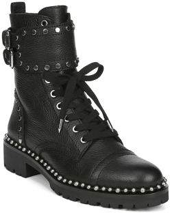Sam Edelman Artists & Boho Jennifer Leather Combat Boots