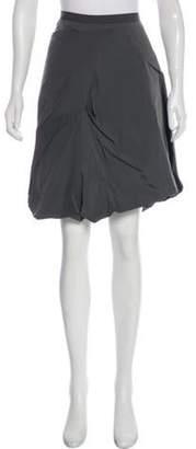 Marni Knee-Length Gathered Skirt Grey Knee-Length Gathered Skirt