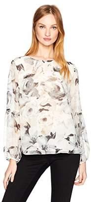 Calvin Klein Women's Peasant Sleeve Blouse