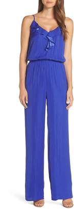 Lilly Pulitzer R) Tinley Sleeveless Ruffle Neck Jumpsuit