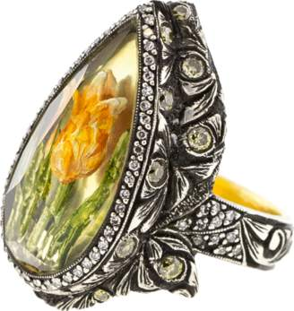 Sevan Biçakci Pear Lemon Topaz Tulip Ring