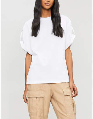 3.1 Phillip Lim Adjustable cotton-jersey T-shirt