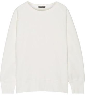 rag & bone - Racer Oversized French Cotton-terry Sweatshirt - White $275 thestylecure.com