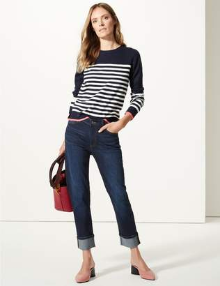 Marks and Spencer Cotton Rich Relaxed Slim Leg Jeans