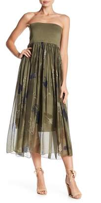 Luma Feather Print Convertible Maxi Skirt & Dress