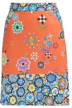 Emilio Pucci Printed Crepe Mini Skirt