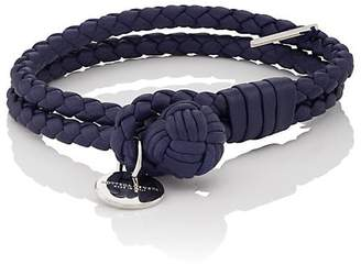 Bottega Veneta Men's Intrecciato Leather Double-Band Bracelet