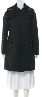 Burberry Knee-Length Hooded Coat Black Knee-Length Hooded Coat