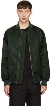 Mr & Mrs Italy Green Nylon New York Bomber Jacket