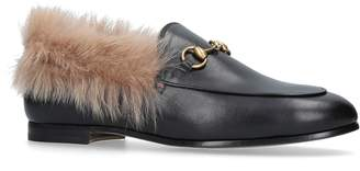 Gucci Fur Lined Jordaan Loafers