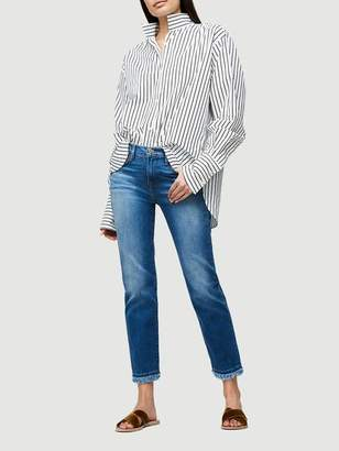 Frame Denim Le High Straight Double Raw Whitway