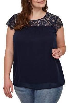Junarose Plus Carolina Short-Sleeve Blouse
