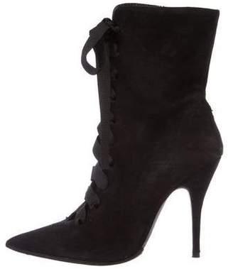 Giambattista Valli Suede Mid-Calf Boots