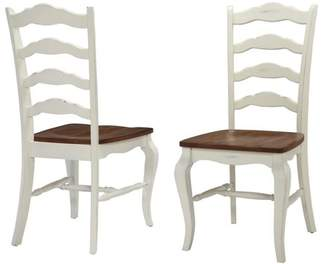 Home Styles French Countryside 2-Piece Oak Dining Chair Set, Off White