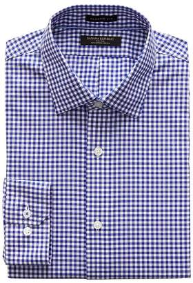 Banana Republic Classic-Fit Non-Iron Stretch Gingham Shirt