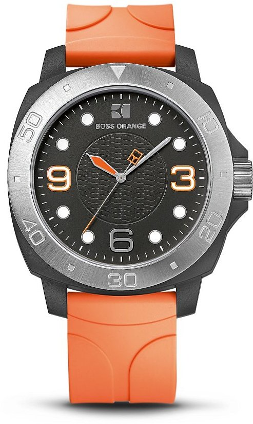 HUGO BOSS 'HO2300' | Textured Silicon Strap Watch by BOSS Orange