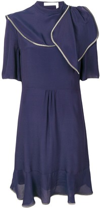 See by Chloe contrast stitching dress