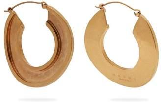 Com Marni Open Hoop 24kt Gold Plated Earrings Womens