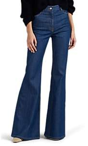 Land of Distraction Women's Highway High-Rise Flared Jeans - Blue