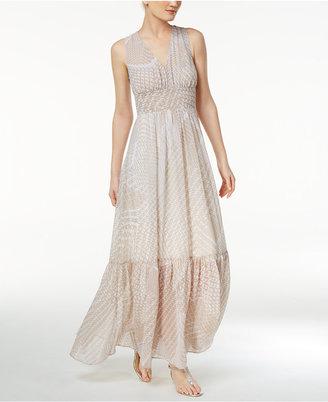 Calvin Klein Graphic-Print Chiffon Maxi Dress $159 thestylecure.com