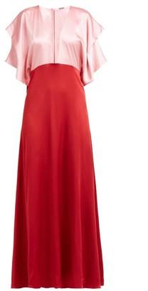 Dodo Bar Or Byon Plunge Neck Satin Dress - Womens - Pink Multi