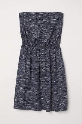 H&M Strapless Jersey Dress - Blue